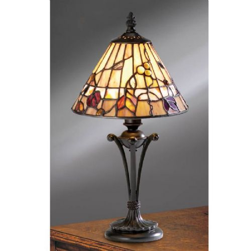 Bernwood Small Table Lamp (Nature, Traditional, Small Table Lamp) TG62S (Tiffany style)